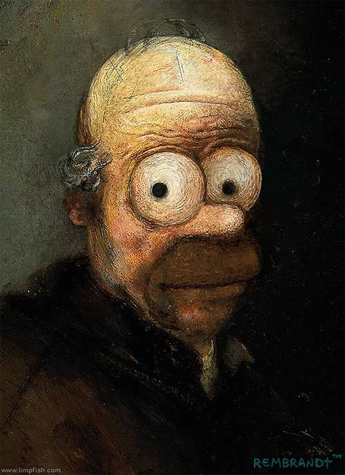 David Barton - Homer Simpson Rembrandt