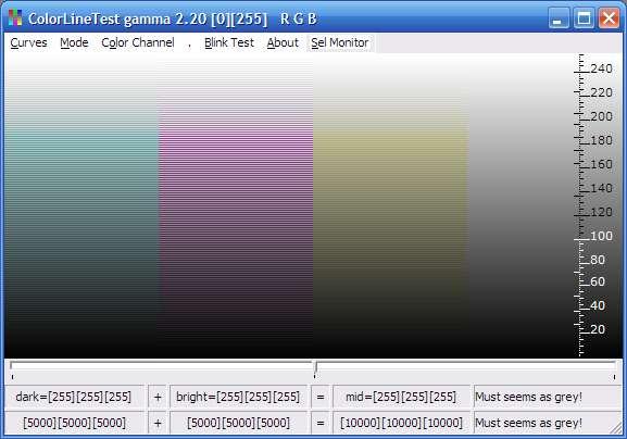 Утилита для настройки мониторов ColorLineTest