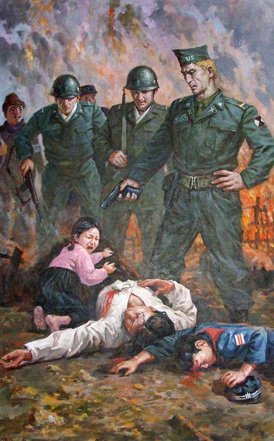 Империалистические ужасы в изложении корейских художников