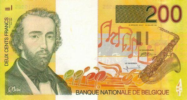 Банкнота с портретом Адольфа Сакса