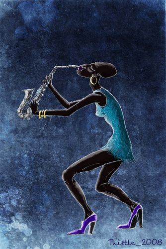 Саксофон в живописи