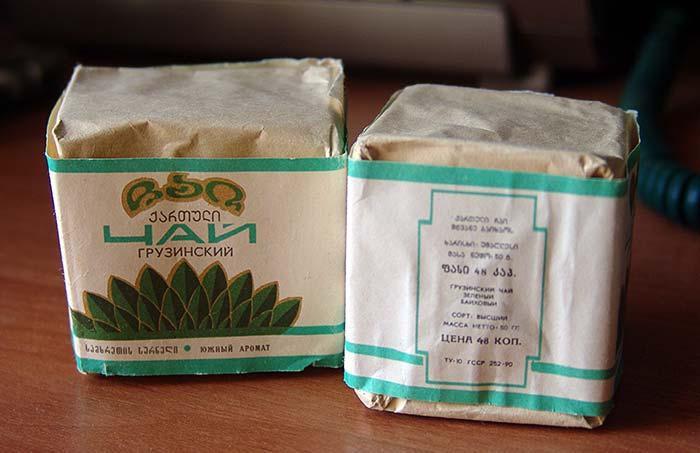 Грузинский зеленый чай из СССР