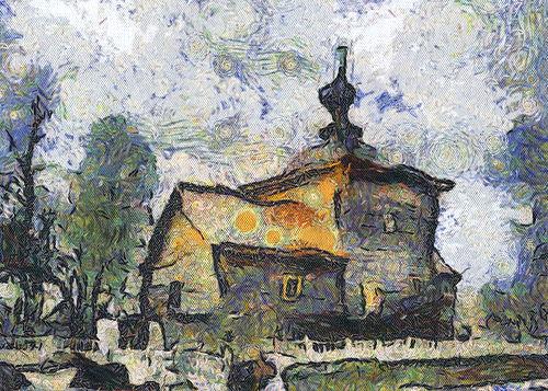 Андрей Бархатов В стиле Ван Гога