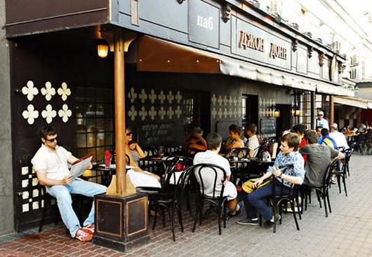 Московское кафе Джон Донн до инаугурации