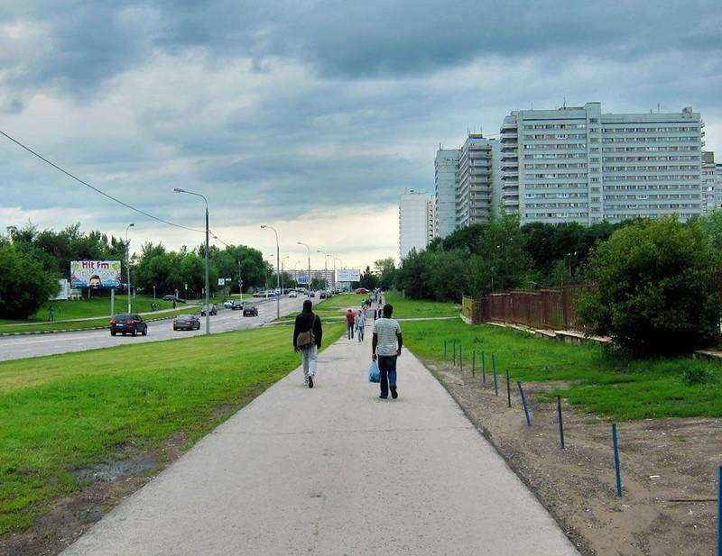 Московские афроафриканцы у лумумбария