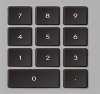 Цифровая клавиатура компьютера