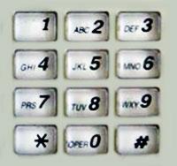 Цифровая клавиатура телефона