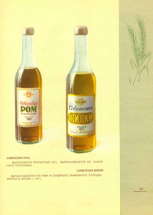 Советский ром и советский виски