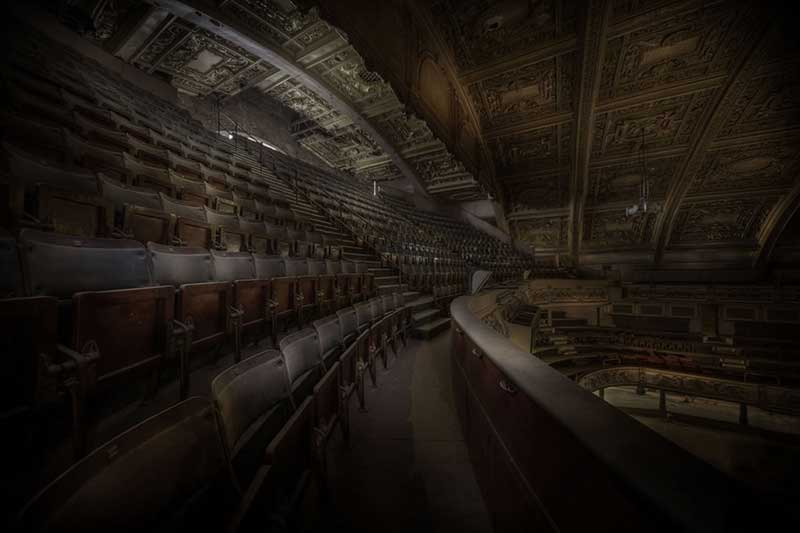 Abandoned theater built in 1897