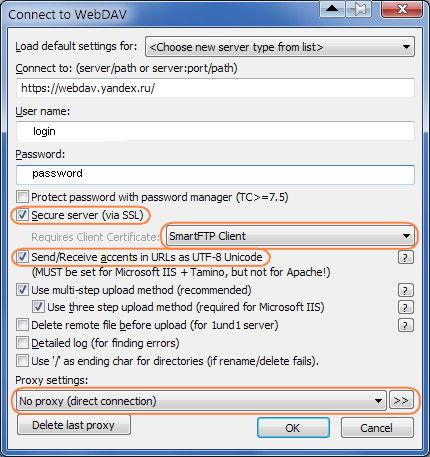 Подключение Яндекс Диск через Тotal Commander WebDav