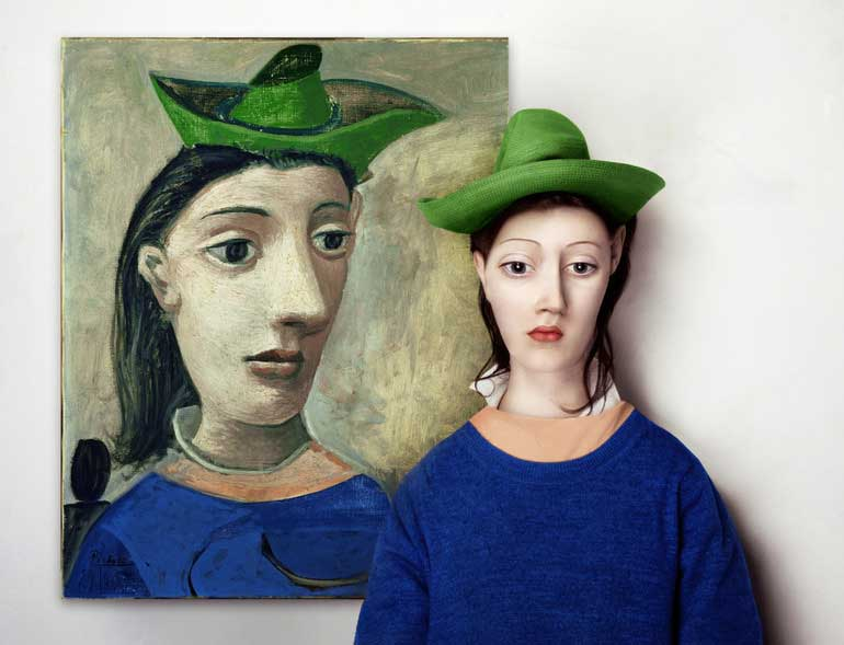 'Woman with green hat' by Pablo Picasso
