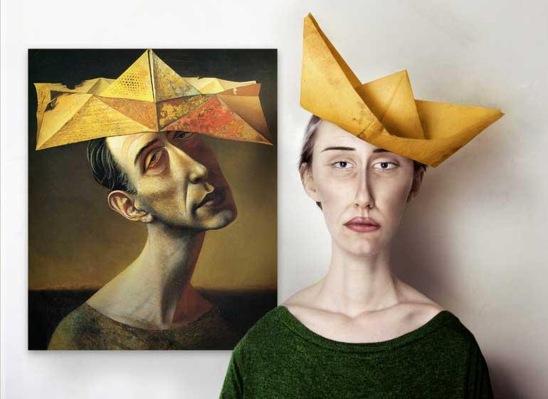 'Fool's hat - narrenhut' by Rudolf Hausner