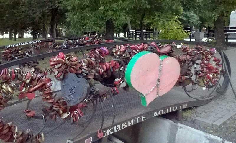 Мост любви в Таганроге