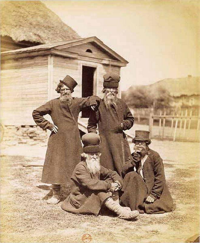 Крестьяне Орловской губернии. Фото И.Рауля, 1870-е