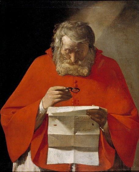 Св. Иероним, читающий письмо