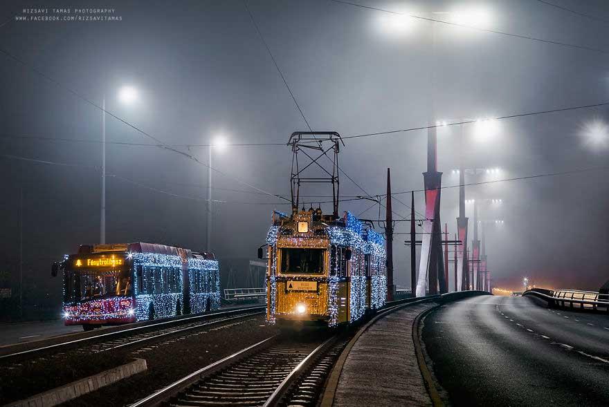Рождественский транспорт в Будапеште
