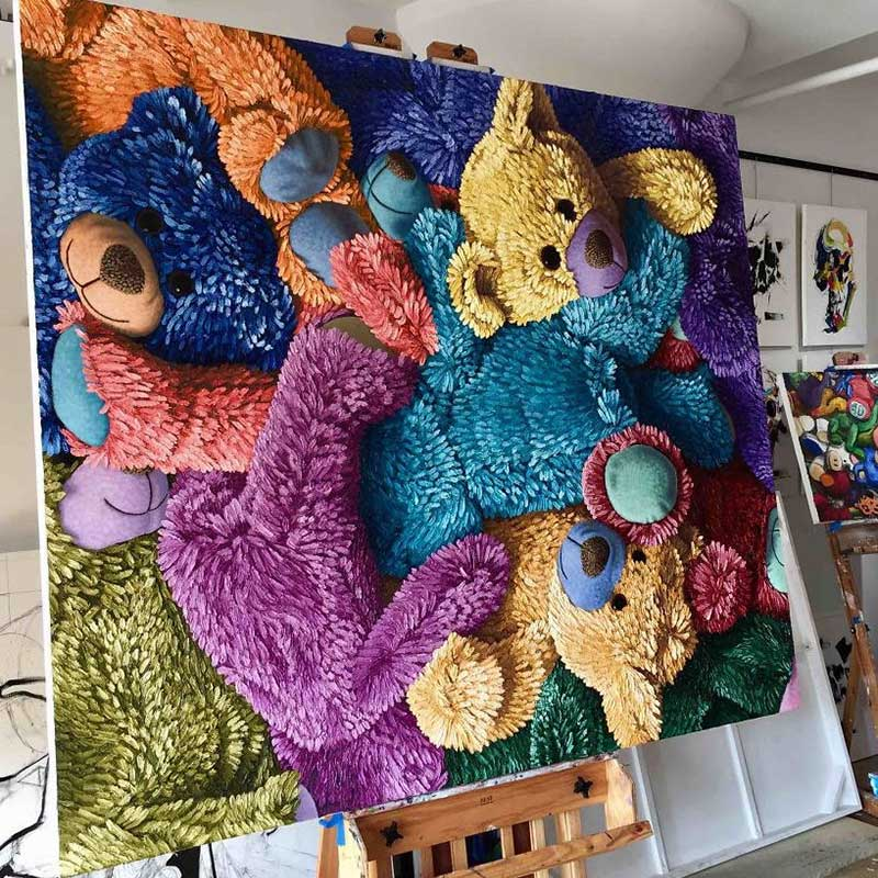 Teddy Bear Painting