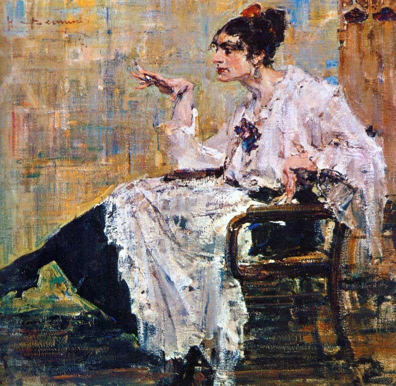 Николай Фешин - Дама с сигаретой