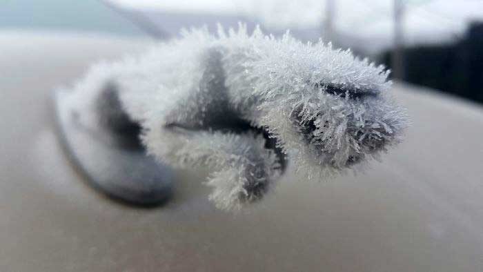 Машины и мороз