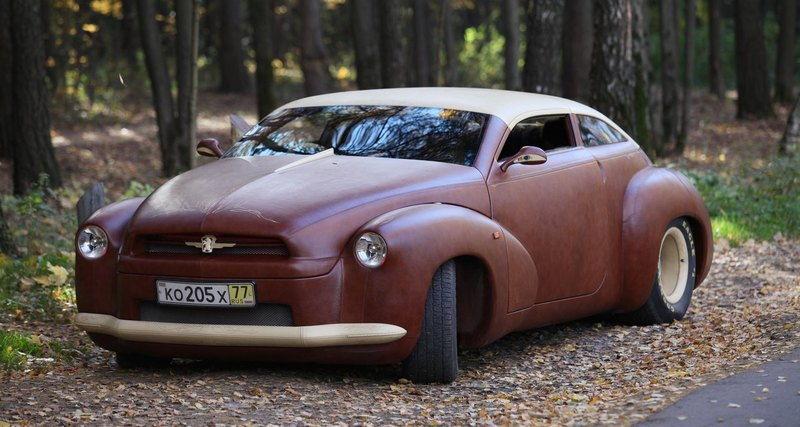 Автомобиль из бизоньей кожи