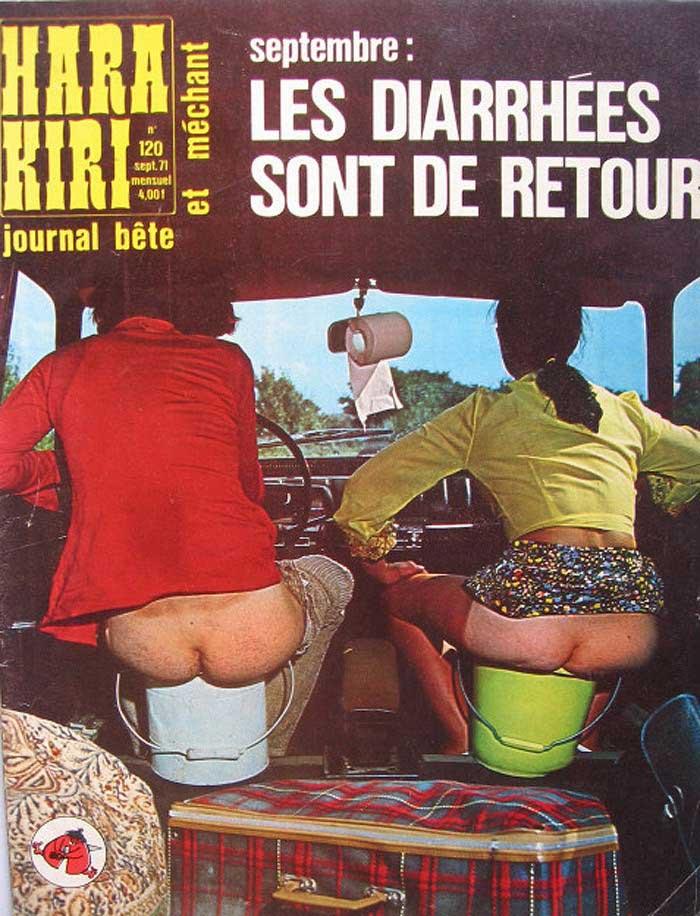 Обложки французского журнала Hara-Kiri