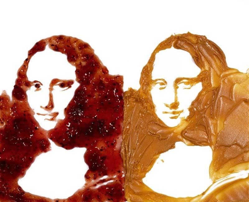 Мона Лиза из джема и крема