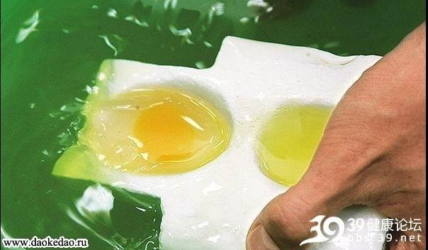 Настоящие китайские фальшивые куриные яйца