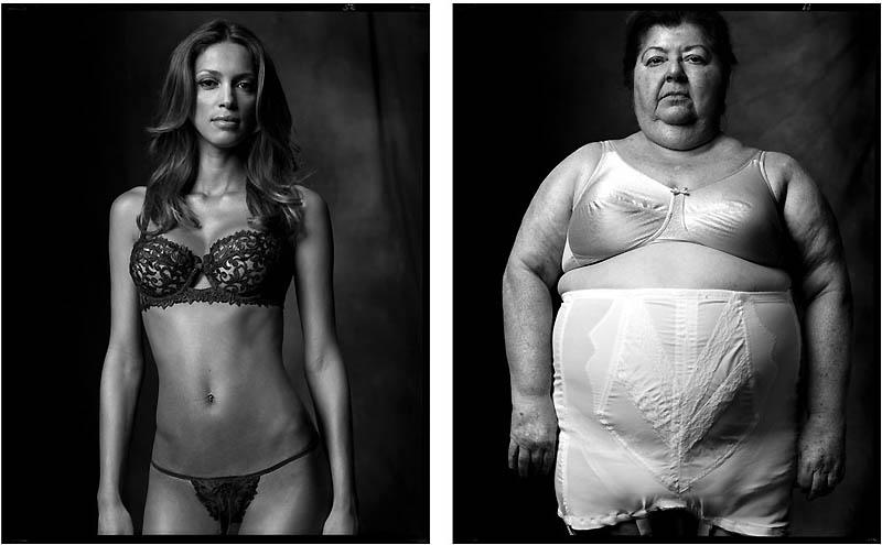 Модель демонстрирующая белье | Тучная дама в грации, 2006-2007 гг
